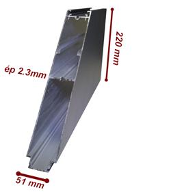 profilé renforcé de portail en aluminium pour une résistance maximale