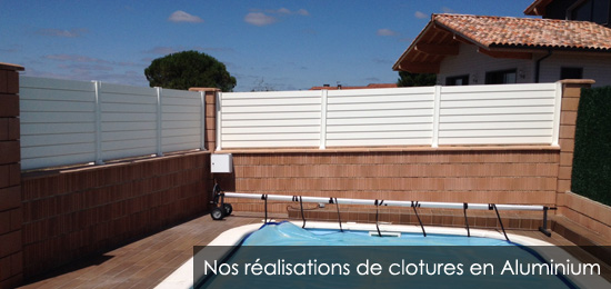 pose et installation de cloture en aluminium